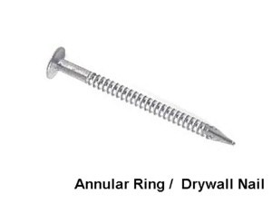Ring Shank or Annular Nails Image
